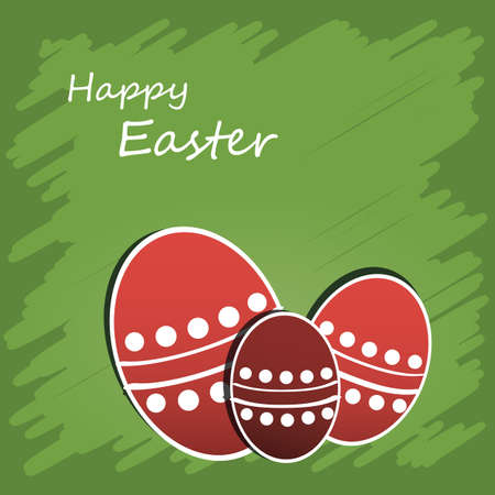 scratch card: Happy Easter Card Illustration