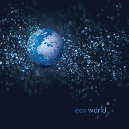 digital world map: Earth Design