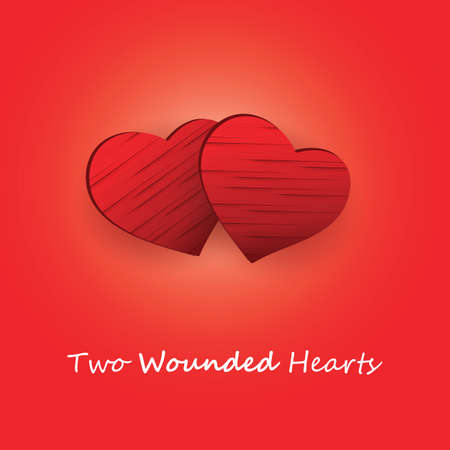 wounded heart: Valentines Day Card
