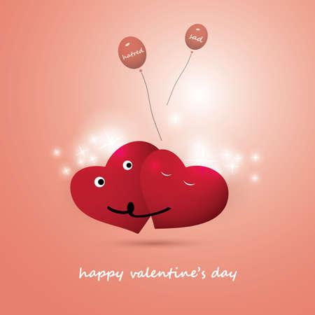 sad love: Valentines Day Card