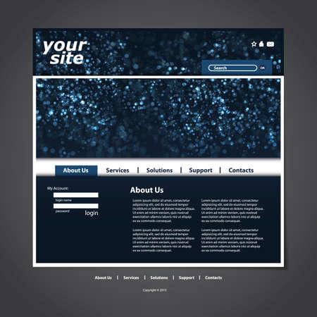 Website template Stock Vector - 12305624