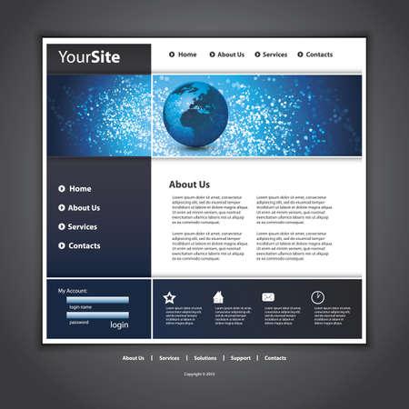 Website template Stock Vector - 12284305