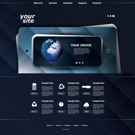 Website template Stock Vector - 12293106