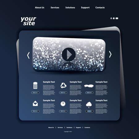 Website template Stock Vector - 12269551