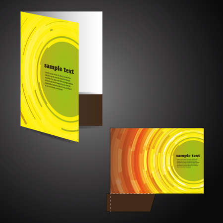 Corporate folder with die cut design Stock Vector - 12426782