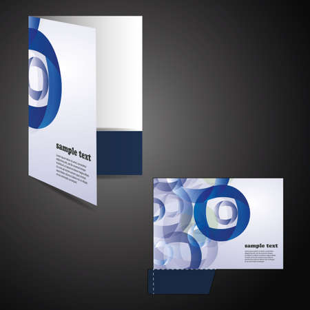 Corporate folder with die cut design Vector