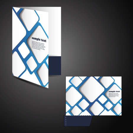 card file: Corporate folder with die cut design Illustration
