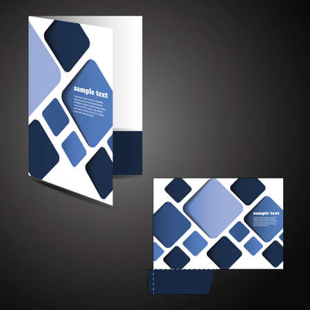 beat brochure: Corporate folder with die cut design Illustration