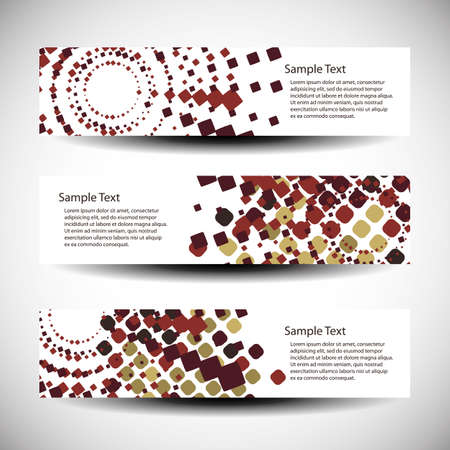 web header: Three abstract header designs