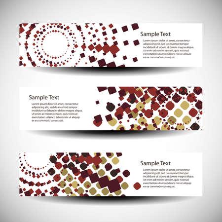 web header: Tres dise�os abstractos de cabecera