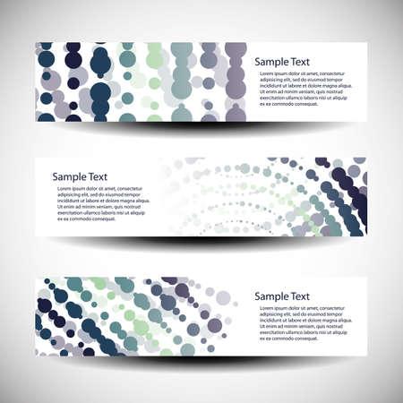 Three abstract header designs Vector