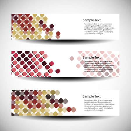 Three abstract header designs Vector