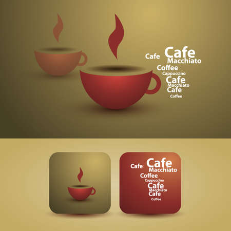 Flyer or Cover Design - Coffee Cup Stock Vector - 12456367