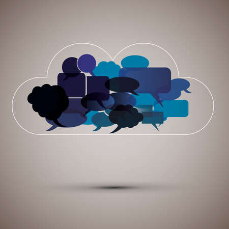 Speech bubble cloud Vector