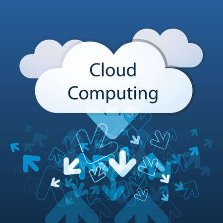 Cloud computing concept Stock Vector - 12863755