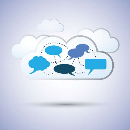 Cloud computing concept design Stock Vector - 13152126