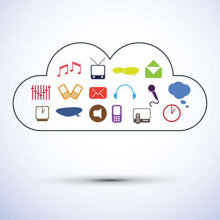 Cloud computing concept design Stock Vector - 12632852