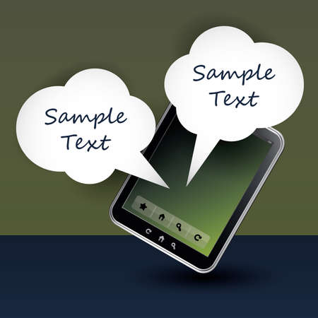 Mobile phone communication  Vector