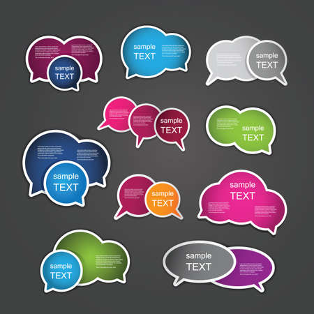 Colorful Labels, Tags Vector