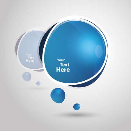 talk balloon: Big blue speech bubble