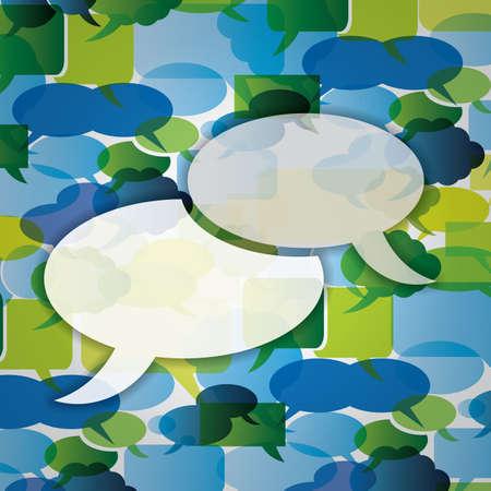 Speech bubbles background Stock Vector - 13112052