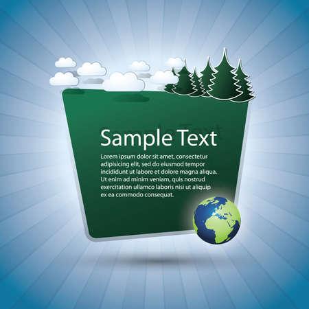 Green Eco Speech Bubble  Vector
