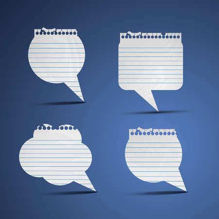text bubble: Note paper speech bubbles
