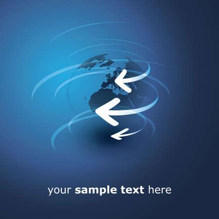flecha azul: Tierra de dise�o vectorial - Conexiones