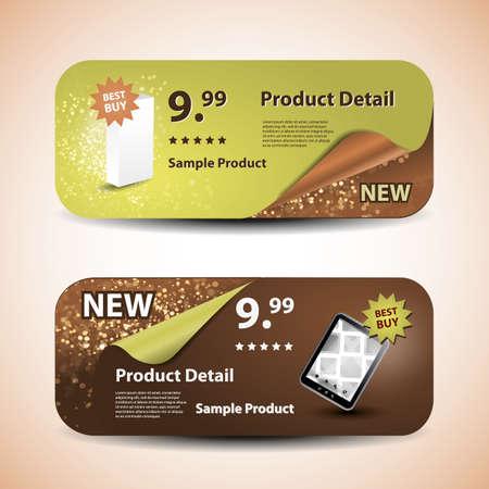 coupon template: Header or Banner Design Set