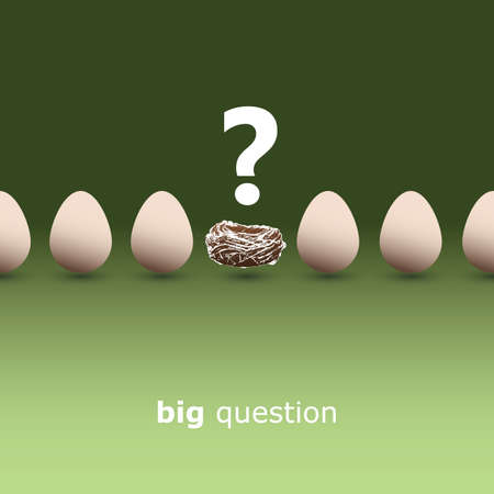 Big question - Egg concept background Stock Vector - 12863762