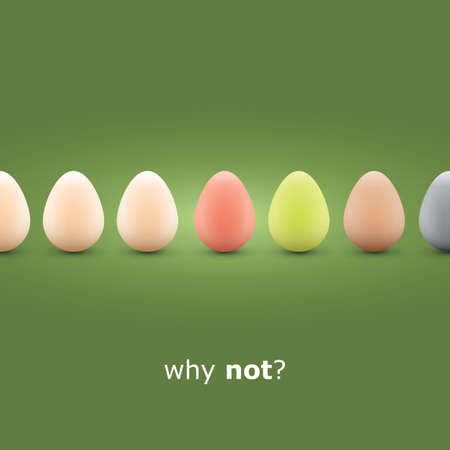 Why not  - Egg concept background Stock Vector - 12741647
