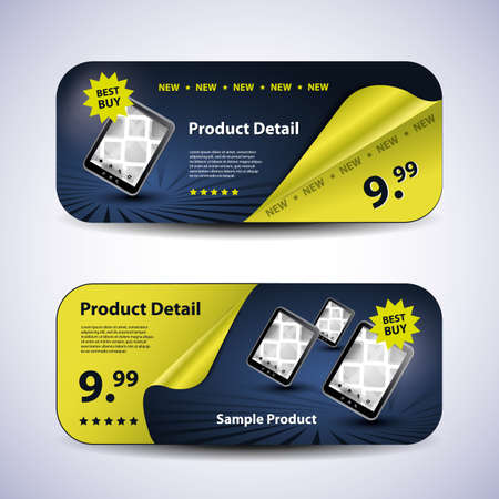 new products: Header or Banner Design Set