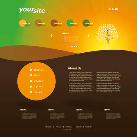 website layout: Website Design