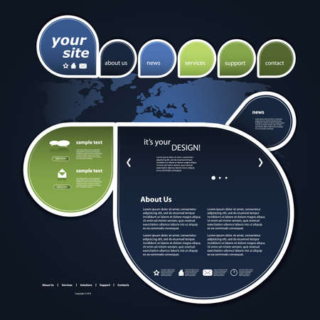 layout: Website template Illustration