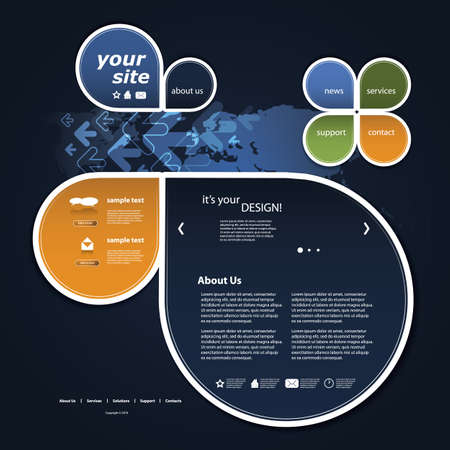 sidebar: Website template Illustration