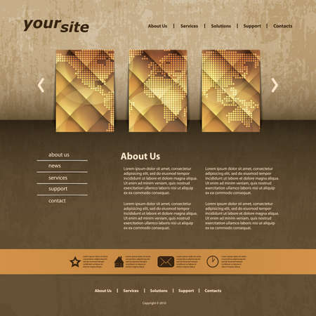 webpage: Website template Illustration