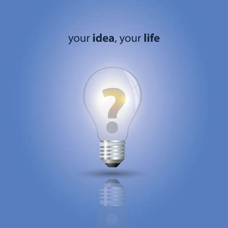 to mark: Your idea, your life - bulb design vector