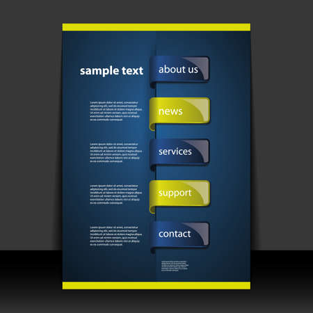 brochure template: Flyer or Cover Design - Business Illustration