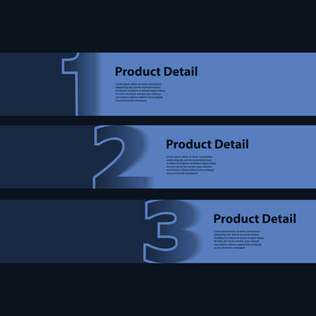 Header or Banner Design - Numbers Vector