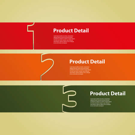 banner design: Header or Banner Design - Numbers