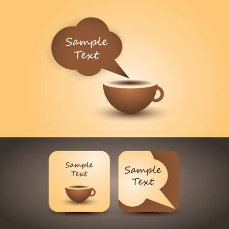 Coffee Cup Flyer or Cover Design Vector