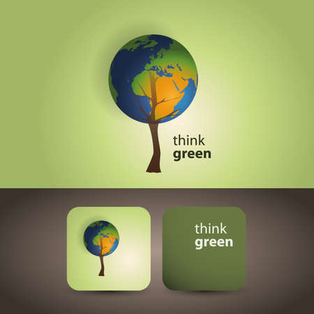 environmental awareness: Think green - eco card