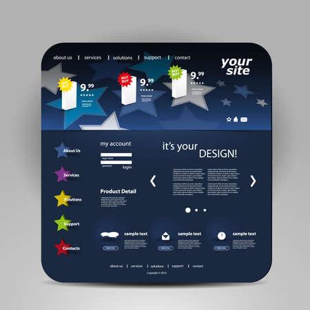 web store: Website template Illustration