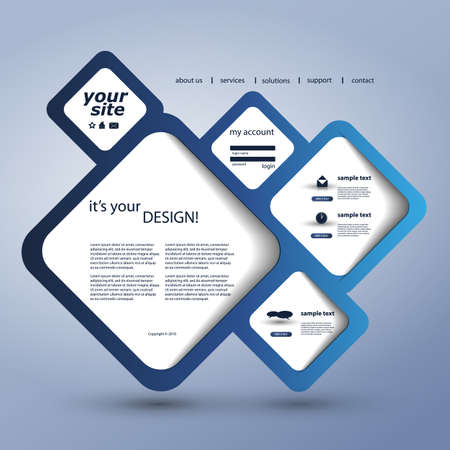web page elements: Website Design