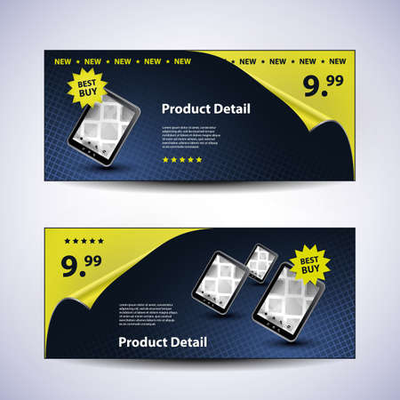 Header or Banner Design Set Vector