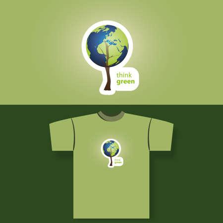 fabric label: T-shirt print Illustration