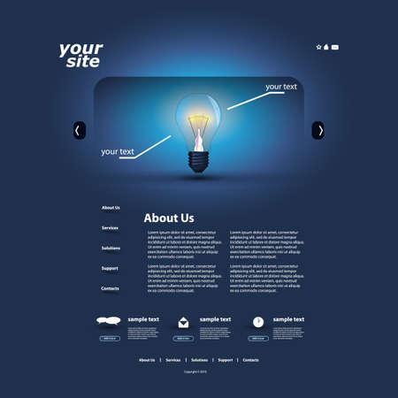 Website template Stock Vector - 13235735