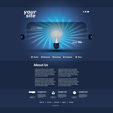 web store: Website template Vettoriali