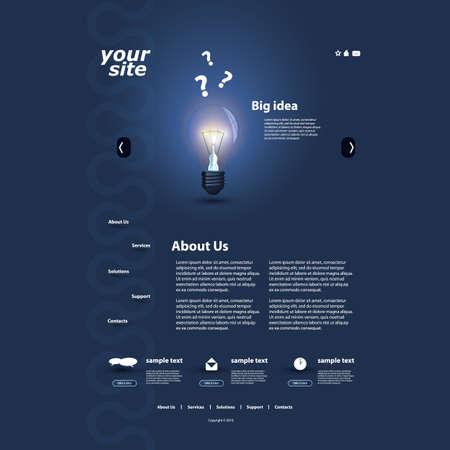 Website template Stock Vector - 13192892