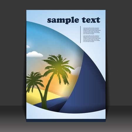 folleto: Flyer o dise�o de la cubierta Vectores